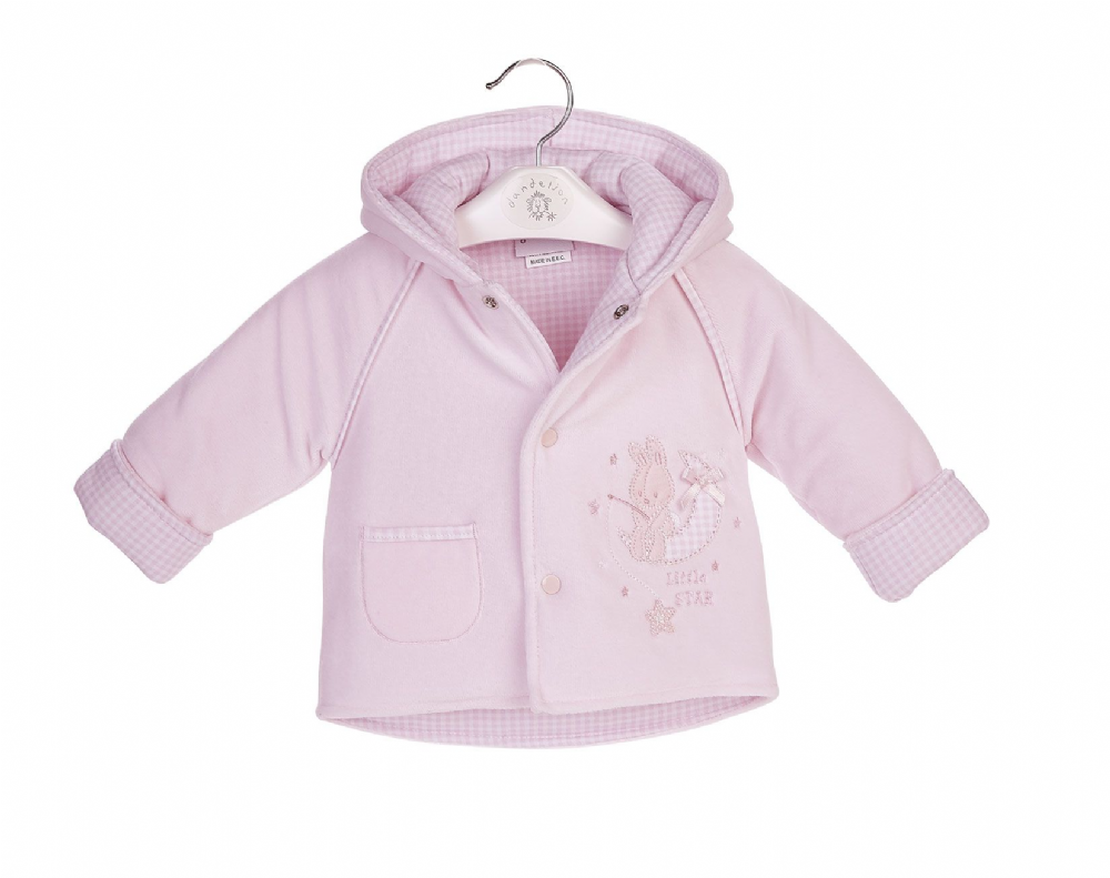 AV2267  Girls Bunny Velour Jacket